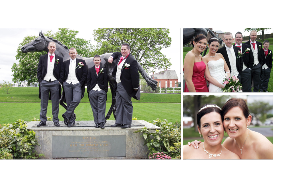 The Wedding of Claire & Stephen at Aintree Racecourse, Liverpool